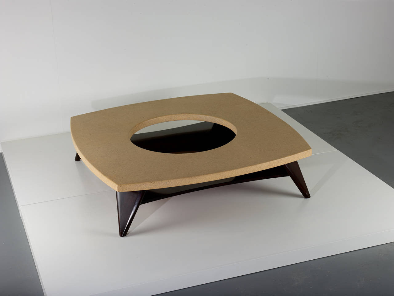 Paul Frankl Cork Coffee Table, 1951 - The Exchange Int