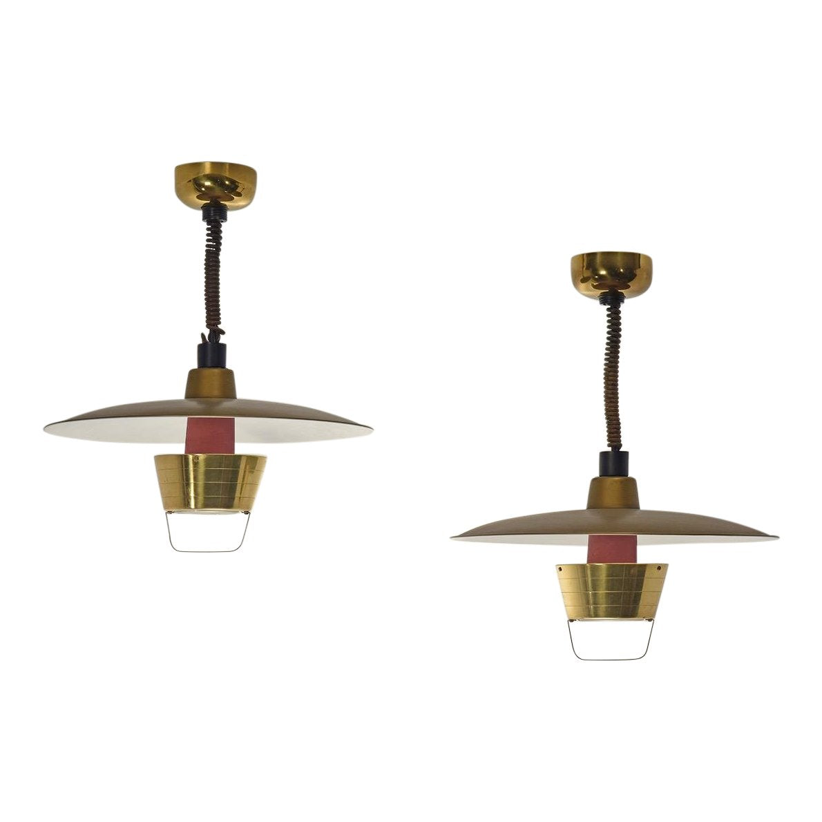 John C. Virden Pair of Ceiling Lights, Model V1110, 1950s - The Exchange Int