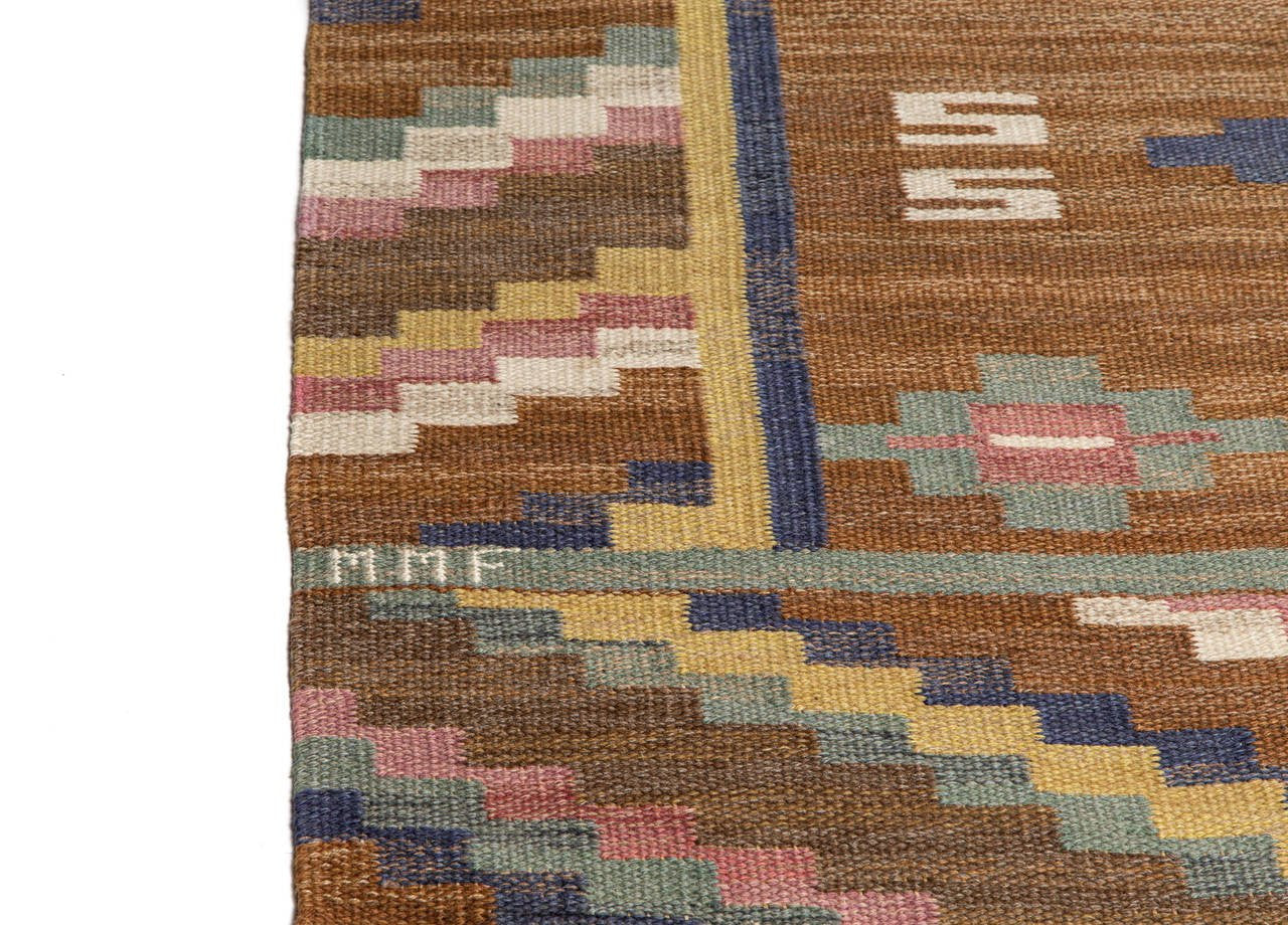 "Marta Maas-Fjetterström ""Gråsten"" Flat-Weave Carpet, MMF - The Exchange Int"