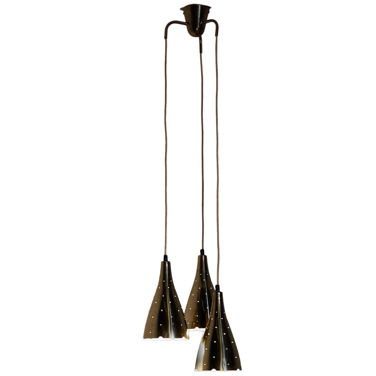 Paavo Tynell Pendant Lamp for Idman, Model 10130 / 3, 1950s - The Exchange Int