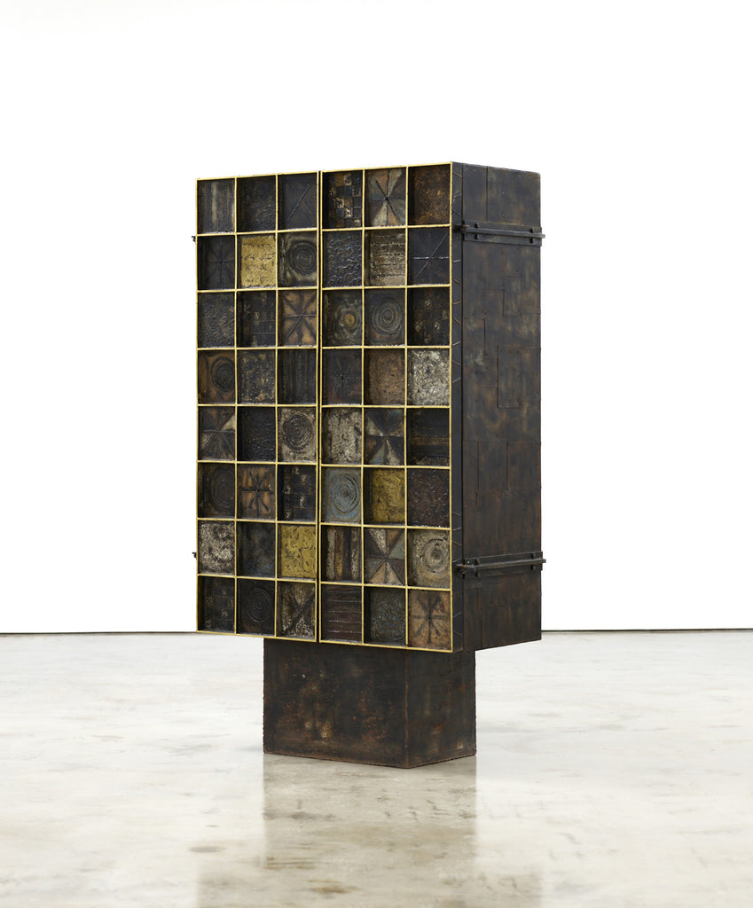 Paul Evans Gold Leaf Trim Cabinet, 1965