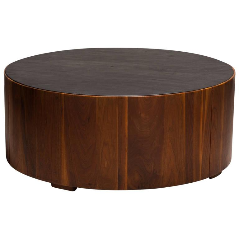 Phillip Lloyd Powell Coffee Table, Sculpted Wood with Slate Top, circa 1960s - The Exchange Int