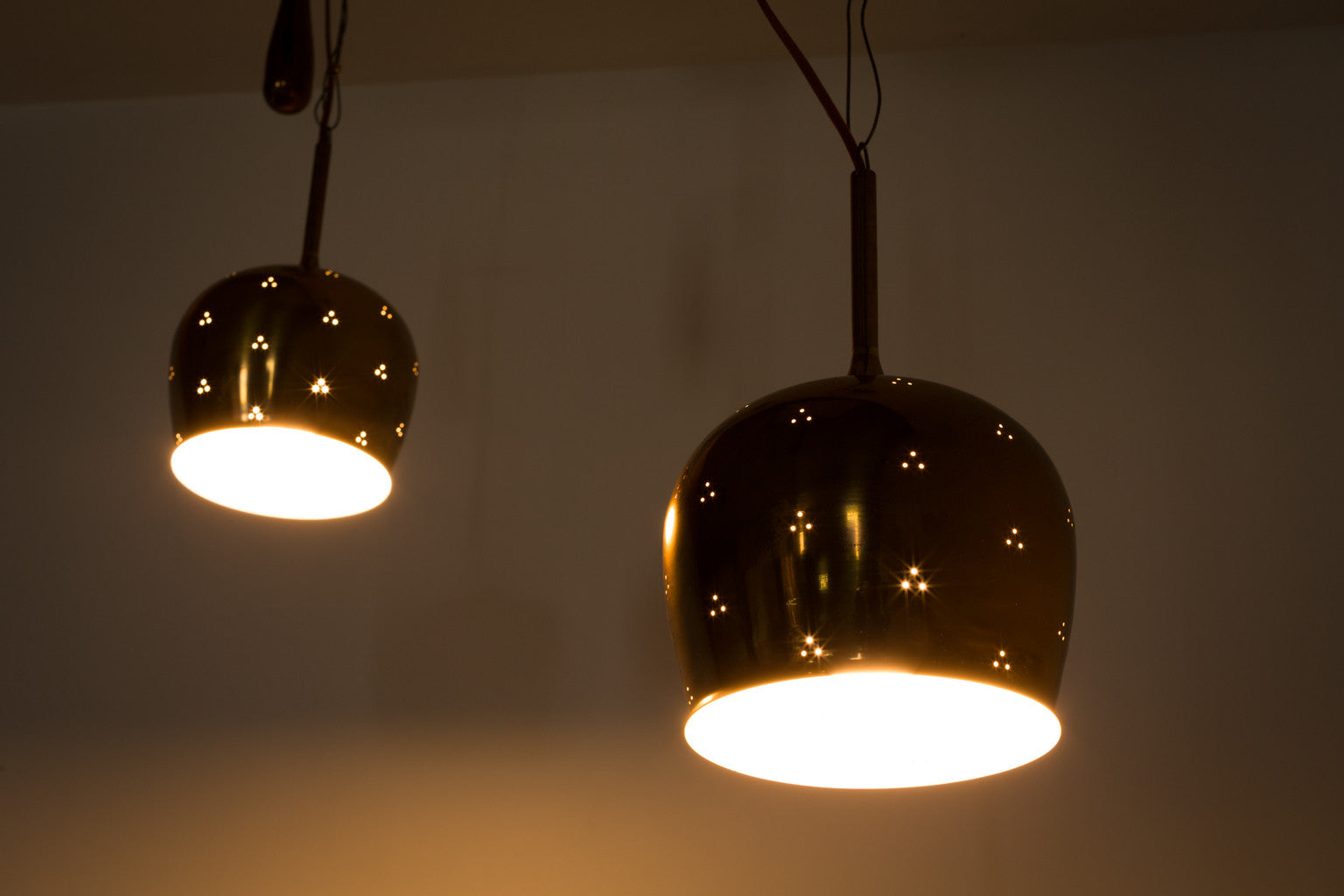 Paavo Tynell, Adjustable Counter Balance Pair of Pendant Lights, Model A1957 - The Exchange Int