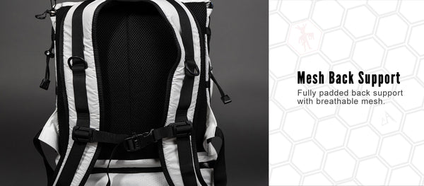 Vagabond Backpack has a breathable mesh back support.