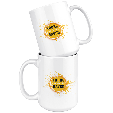 Young Handsome & Saved 15oz Mug