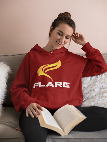 Flare Logo Pullover Hoodie