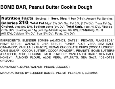 Bomb Bars - Peanut Butter Cookie Dough