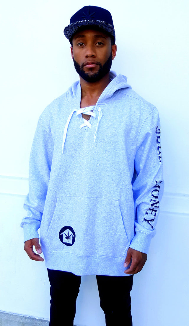 Seed Money Throwback Lace Up Hoodie - Mens