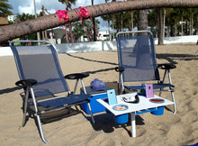 Get in on the newest craze in Beach Tables. Not just for the beach, scroll down, see how versatile our table is.