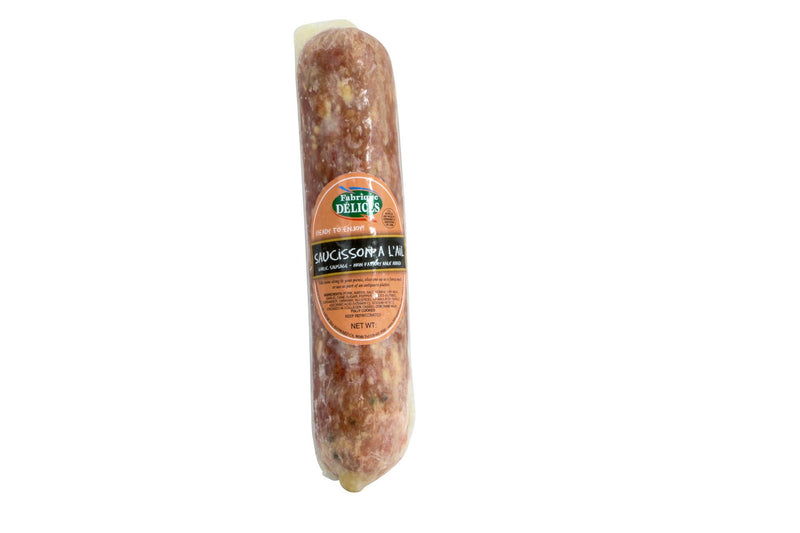 Garlic Sausage Sausisson A L'Ail 12/1.5 Lb* Approx Weight (Price by lb)