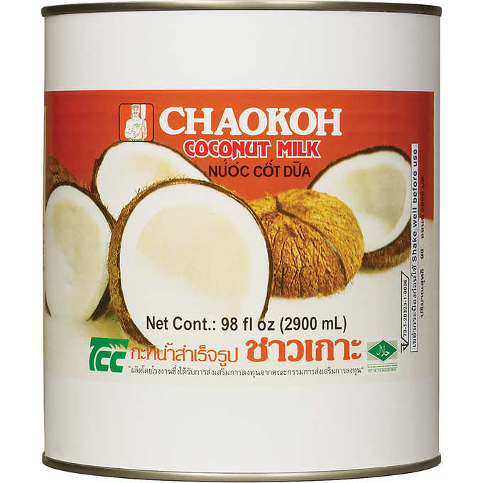 Coconut Milk Unsweetened: 98oz