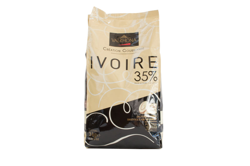 Ivoire 35% White Feves: 3kg