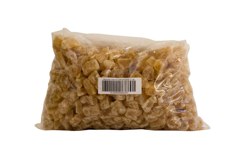 Candied Ginger Large Dice: 5lbs