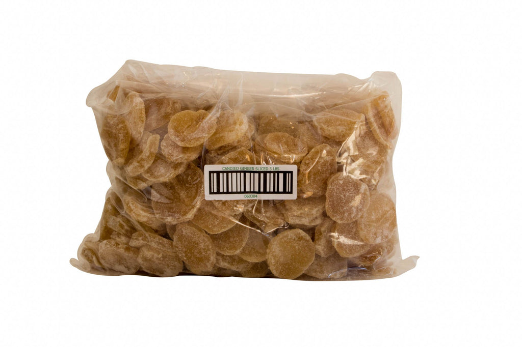 Candied Ginger Sliced, Australia 5 Lb