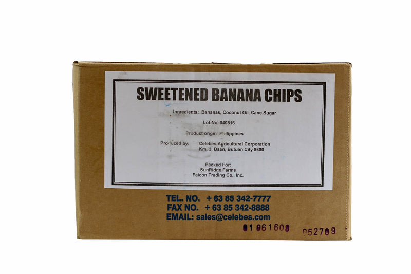 Banana Chips Sweetened 14 Lb