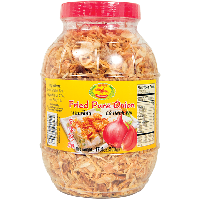 Fried Shallots: 17.5oz