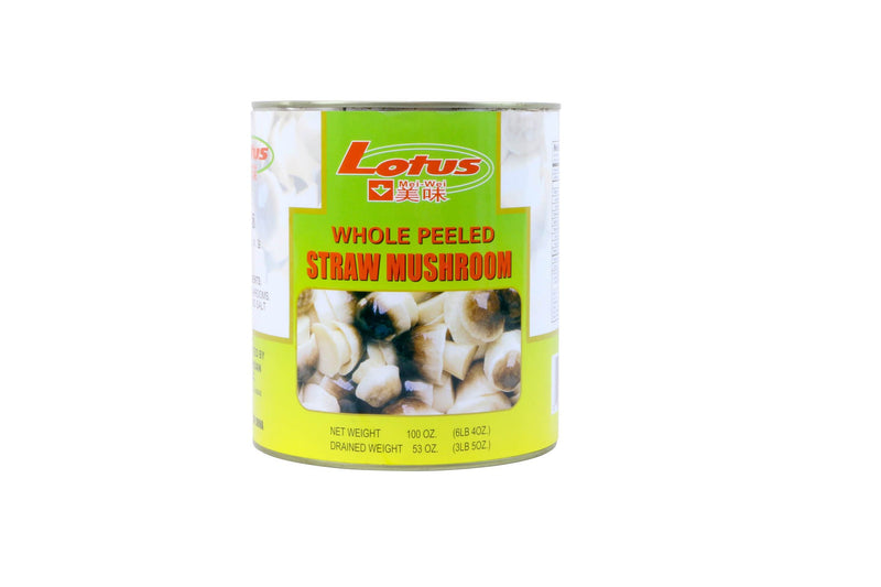 Straw Mushrooms Peeled In Brine: 68oz