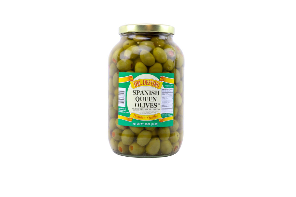 Olives Pimento Stuffed Green Queen 4/1 Gal