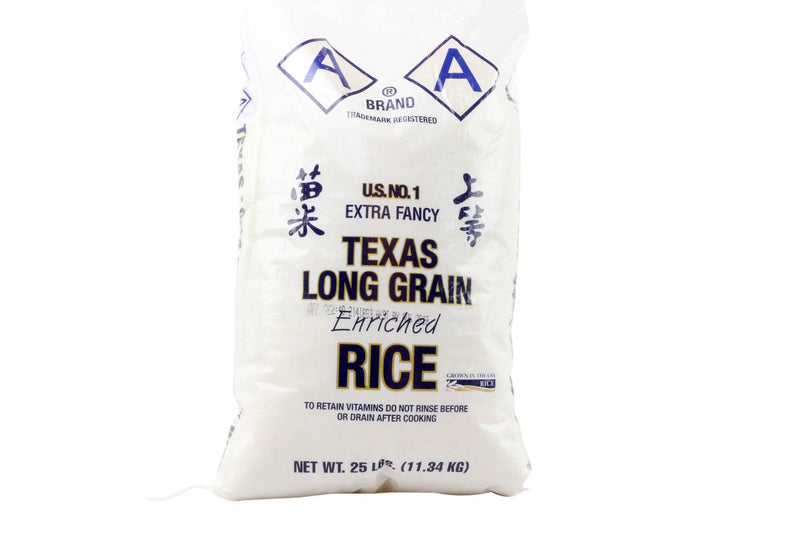 Long Grain White Rice: 25lbs
