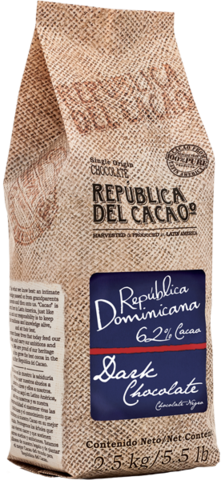 62% Dominican Republic Dark Chocolate Rounds: 5.5lbs