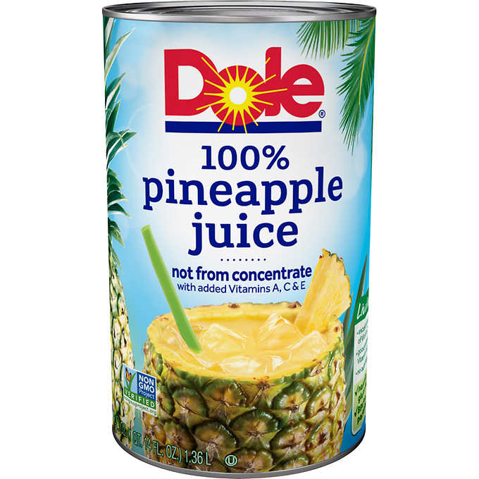 Pineapple Juice: 46oz