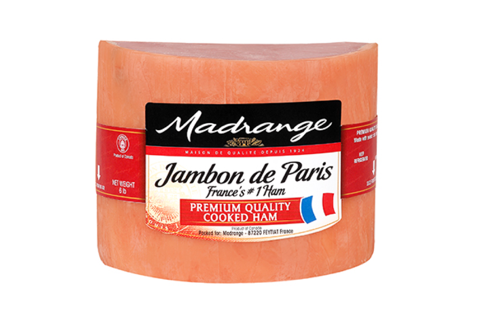 Madrange Ham De Paris (Cooked) 2/6 Lb. Approx Weight (Price by lb)