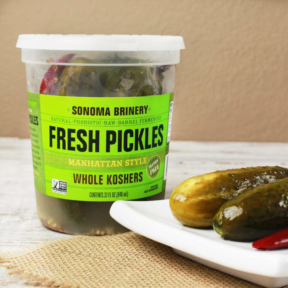 Manhattan Whole Kosher Pickles: 5gal