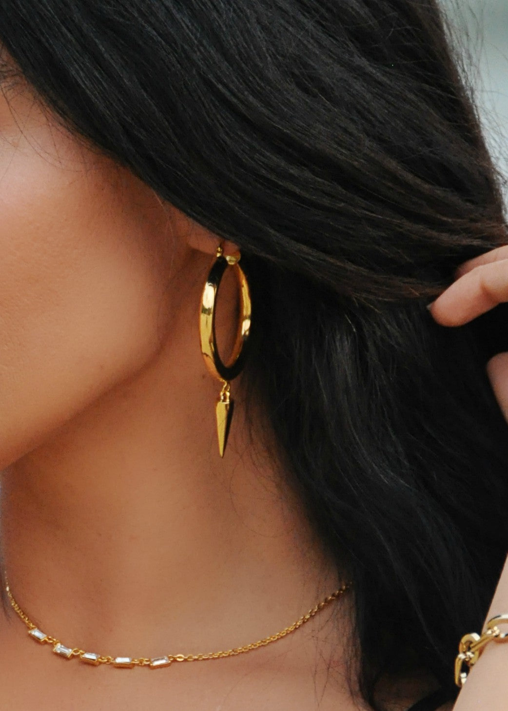 Rebel Spike Hoop Earrings