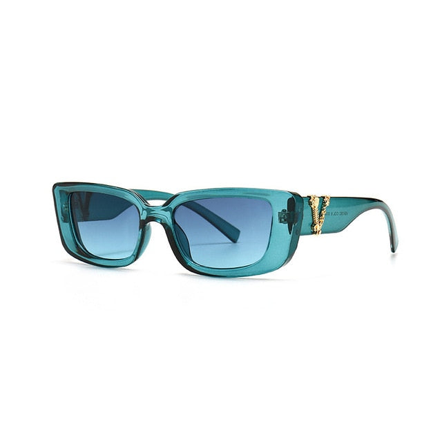 Claudine Retro Rectangle Sunglasses