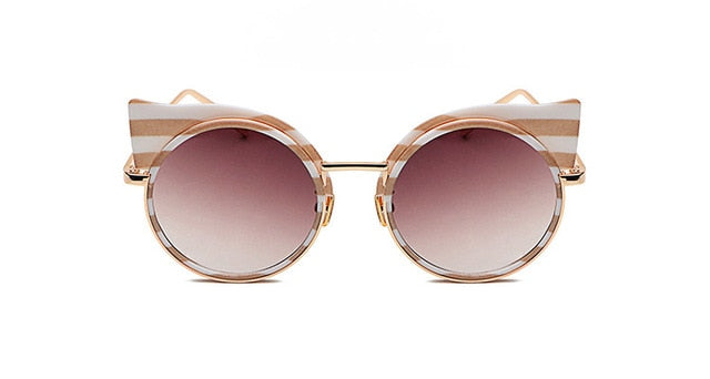 Marina Striped Cat Eye Sunglasses