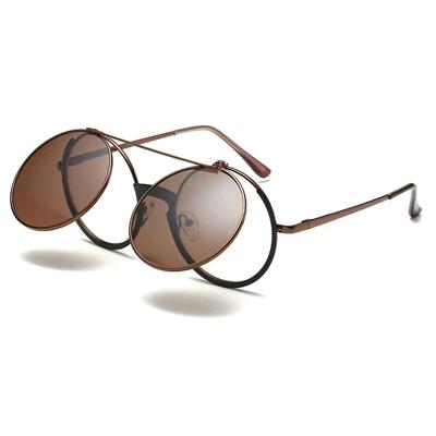 Omar Round Flip Up Sunglasses