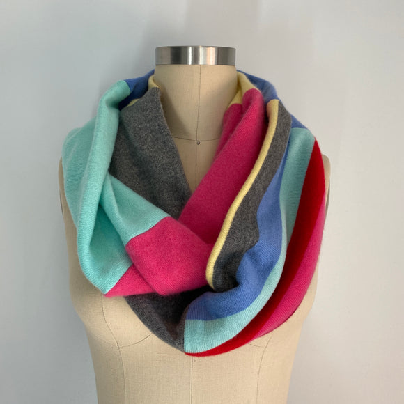 'Sweet Tooth' 100% Cashmere Recycled Sweater Infinity Scarf Loop