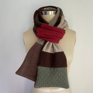'Apple Cider' 100% Cashmere Recycled Sweater Scarf