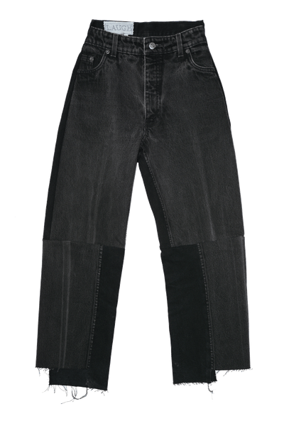 BLACK DECONSTRUCTED JEANS | CUSTOM