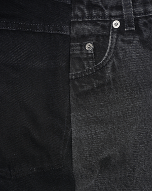 BLACK DECONSTRUCTED JEANS | MADE-TO-ORDER