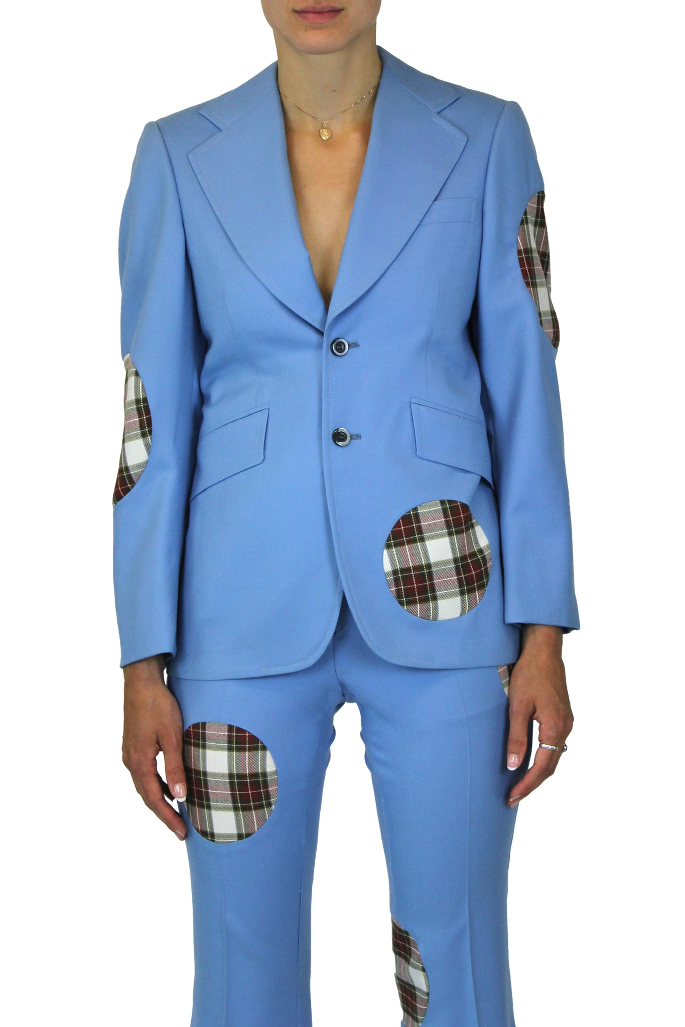 Dot insertion blazer