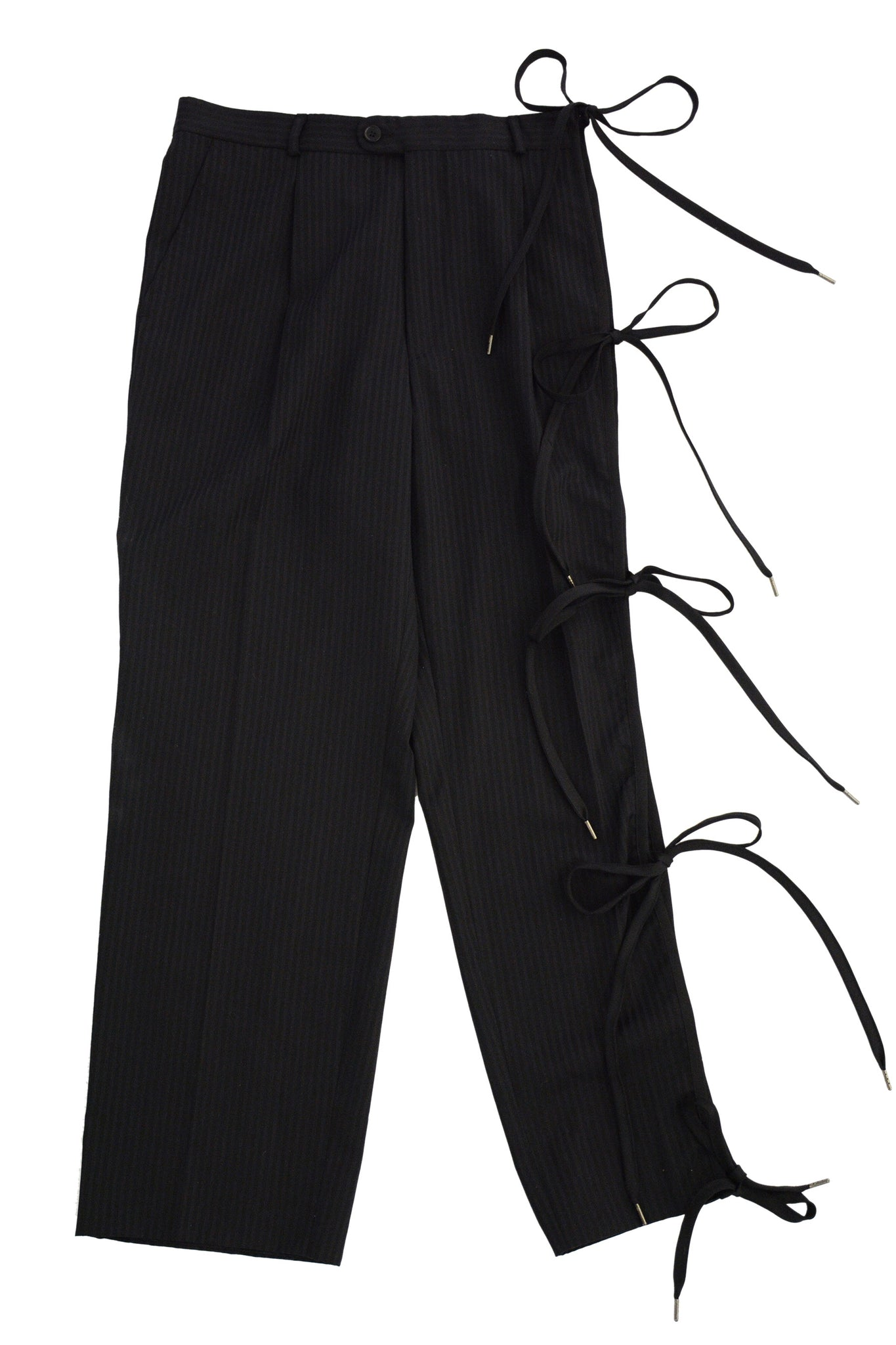 BLACK BOW TROUSERS