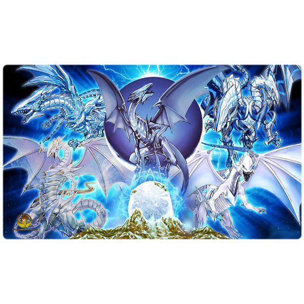 Blue-Eyes White Dragon Yugioh Playmat - Yugimation