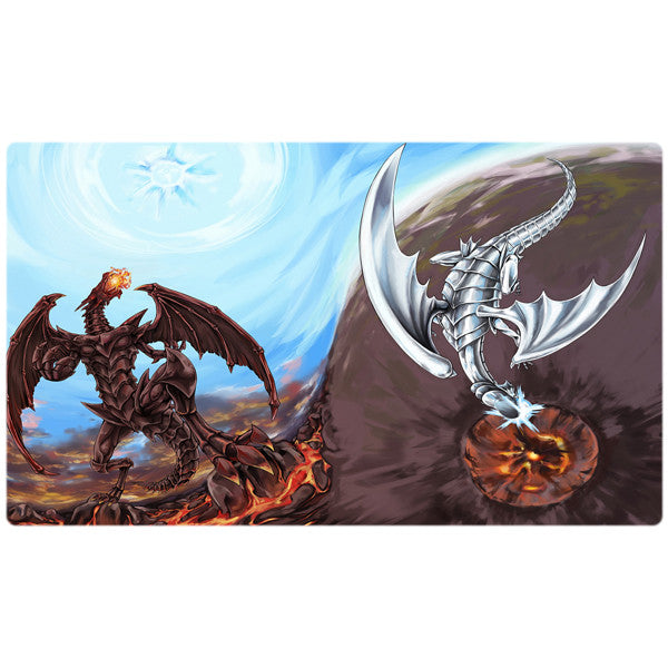 Blue-eyes White Dragon Red-Eyes Black Dragon Yugioh Playmat