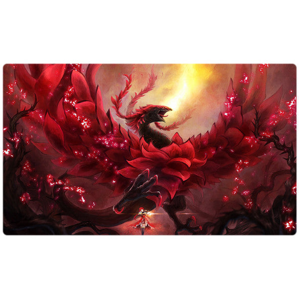 Black Rose Dragon Yugioh Playmat