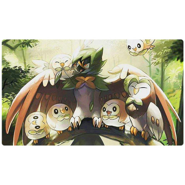 Decidueye Rowlet Flock Pokemon Playmat - Virbank January Give-a-way