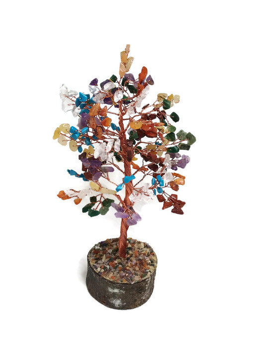 7 Chakra Stone Chips & Copper Tree