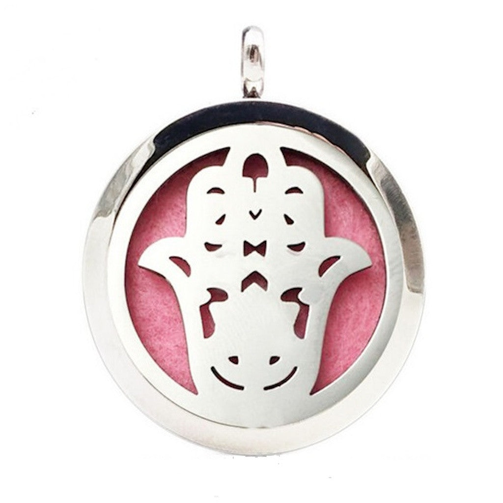 Aromatherapy Stainless Steel Diffuser Pendent Hamsa