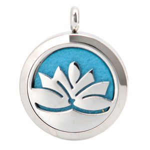 Aromatherapy Stainless Steel Diffuser Pendent Lotus Flower