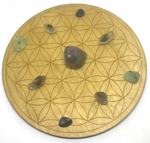 Flower of Life Crystal Grid-6""