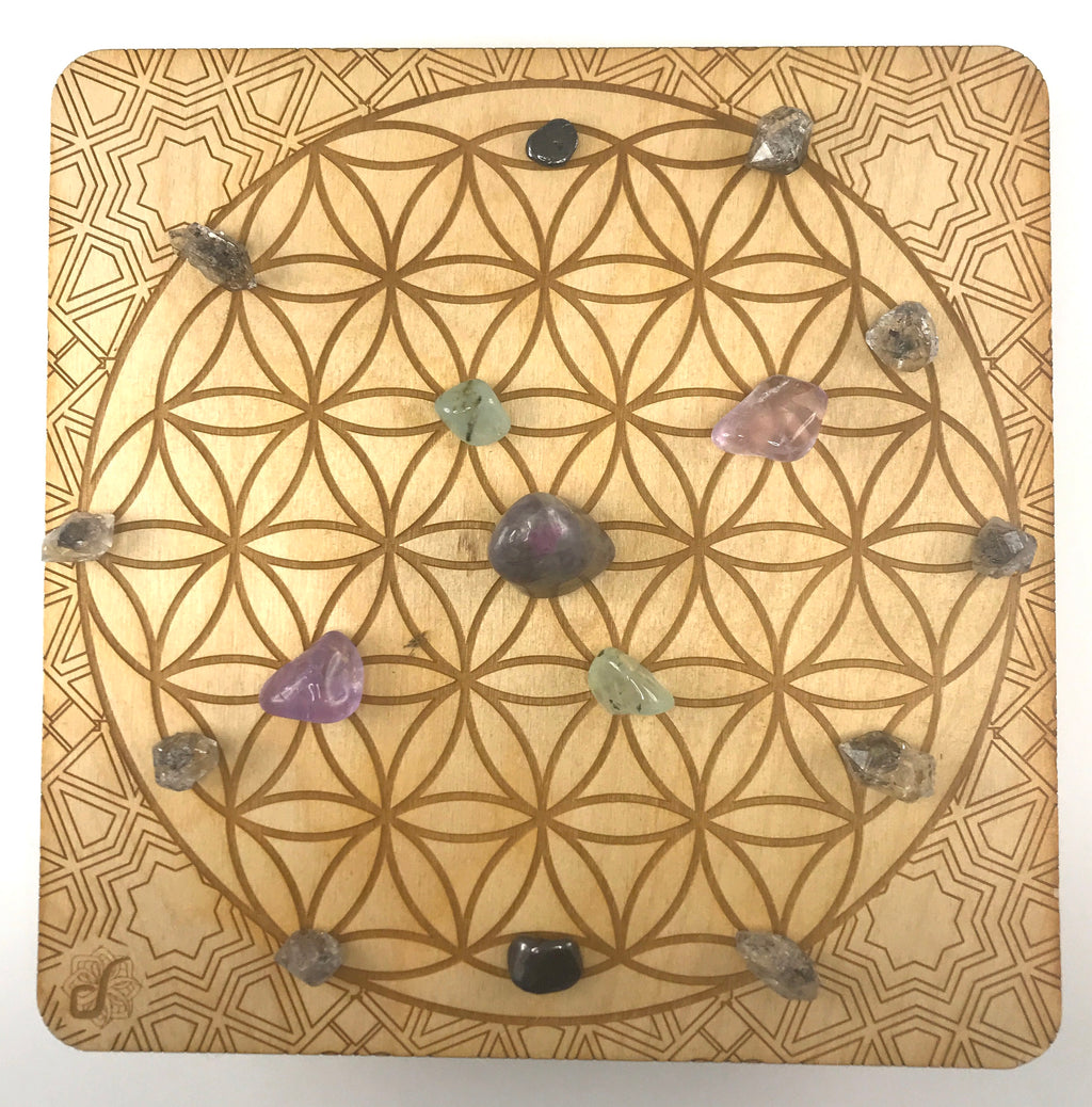 Large Crystal Grid-Flower of Life 8""