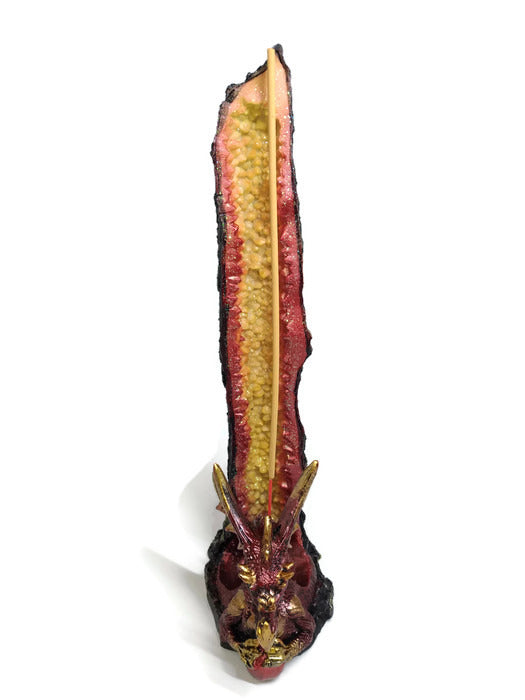 Dragon Incense holder - Tall Red Dragon