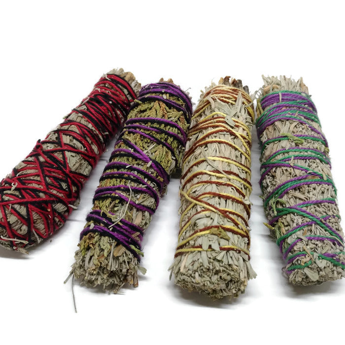 Sage Sample Smudging Pack - 4 Piece Bundle