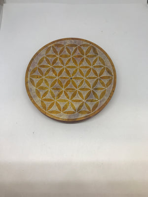 Soapstone Flower of life Incense burner