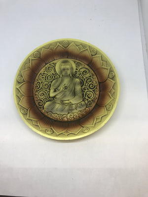 Round Buddha Incense Holder